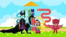 Masha And The Bear with PJ Masks Catboy Gekko Owlette against Maleficent parody