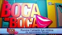Romina Calderón fue víctima de agresiones físicas