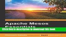 Read Apache Mesos Essentials Ebook Free
