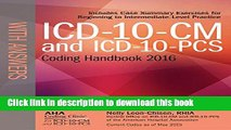 Download Books ICD-10-CM and ICD-10-PCS Coding Handbook, with Answers, 2016 Rev. Ed. Ebook PDF