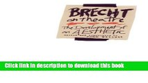 Download Brecht on Theatre: The Development of an Aesthetic Ebook Free