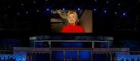Le message vidéo d'Hillary Clinton, officiellement candidate à la Maison blanche