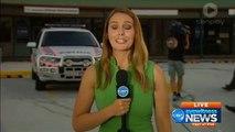 Arrestation par la police en direct pendant un duplex TV d'une journaliste