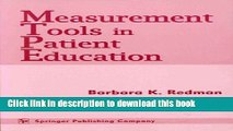 [PDF]  Measurement Tools in Patient Education  [Read] Online