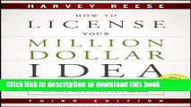 [PDF]  How to License Your Million Dollar Idea: Cash In On Your Inventions, New Product Ideas,