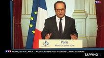 Prêtre égorgé : François Hollande affirme que la France va gagner la guerre contre Daesh  (Vidéo)