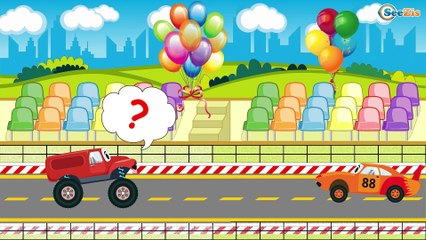 Emergency Vehicles Cartoon: Police Cars & The Fire Truck Rescue Car City! Cartoons for Children