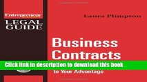 [PDF]  Business Contracts : Turn Any Business Contract to Your Advantage  [Read] Full Ebook