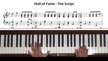 Hall of Fame -- The Script ft. will.i.am Piano Tutorial