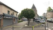 St-Etienne-du-Rouvray: l'église fermée au lendemain de l'attaque