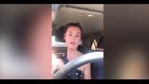 Pour nous faire prendre conscience, elle s'enferme dans sa voiture au soleil et commence à se filmer...
