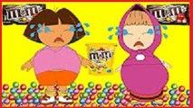 #Masha And Dora Ate Too Much M&M vs Peppa Pig Jocker #Cry #Funny Story #Rainbow Rhymes