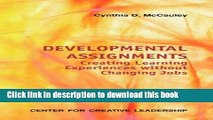 Read Developmental Assignments: Creating Learning Experiences Without Changing Jobs (CCL) Ebook