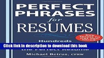 Read Perfect Phrases for Resumes (Perfect Phrases Series) PDF Online