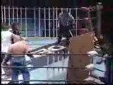 Nagayo, Ryuji Ito & Takagi vs. Kobayashi, Shadow WX & Ozaki