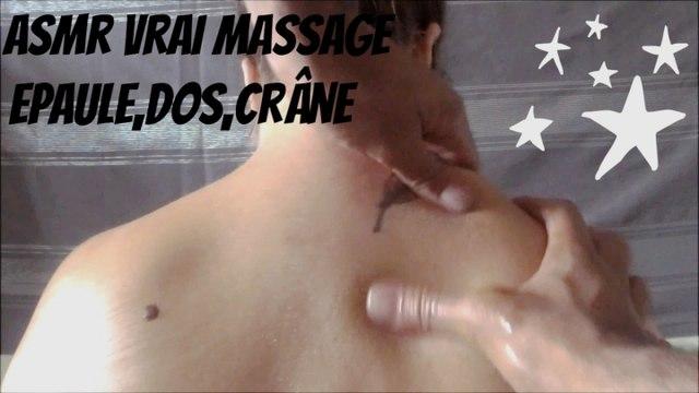 ASMR Vrai massage épaules, nuques, crânes + commentaires chuchotés