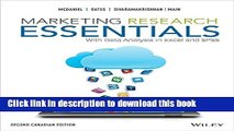 Download Marketing Research Essentials, 2nd Canadian Edition  Ebook Free