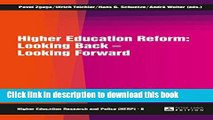 Read Higher Education Reform: Looking Back - Looking Forward (Higher Education Research and