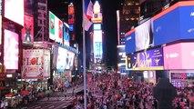 New York - Time Square vue de ses escaliers