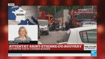 Attentat de Saint-Etienne-du-Rouvray: un prêtre tué et quatre otages blessés.