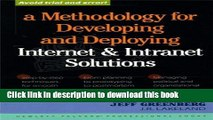 Read A Methodology for Developing   Deploying Internet   Intranet Solutions Ebook Free