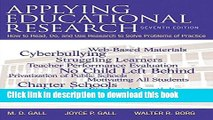 Read Applying Educational Research: How to Read, Do, and Use Research to Solve Problems of