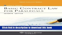 Read Basic Contract Law for Paralegals, Seventh Edition (Aspen College)  Ebook Free