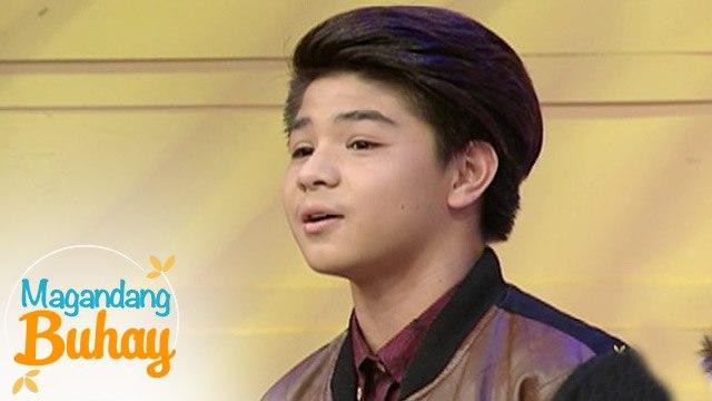 "Magandang Buhay: Bugoy Cariño sings ""Love Yourself"""