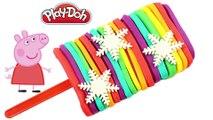 Fun Play Doh - Create Rainbow Ice Cream Popsicle Snowflakes Peppa Pig Toys Fun Video for Kids