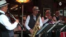 Megève : Des musiciens amateurs de jazz dans les rues