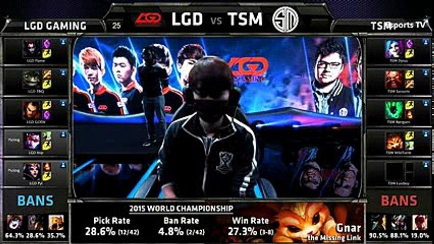TSM vs LGD  League of Legends World Championship 2015 - Group D  LGD Gaming vs Team SoloMid