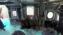 Helo Dunker • U.S. Marines In The Underwater Egress Trainer - How Marines Train To Escape A Sinking Helicopter