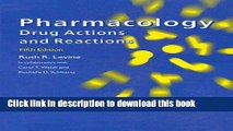 Read Pharmacology: Drug Actions and Reactions, 5th Edition PDF Free