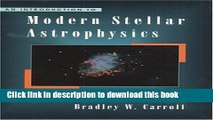Read An Introduction to Modern Stellar Astrophysics PDF Free
