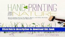 [PDF] Hand Printing from Nature: Create Unique Prints for Fabric, Paper, and Other Surfaces Using