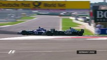 Juan Pablo Montoya and Kimi Raikkonen Battle (German Grand Prix F1 2002)