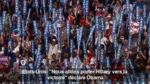 "Obama: ""Nous allons porter Hillary vers la victoire"""