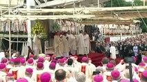 Première messe célébrée par le pape François en Pologne