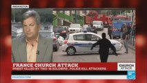 French church attacks: Priest killed by two 'IS soldiers'.