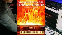 """Vangelis'Festivities"" sound bank for the Jupiter 80. Demo synth sound live. Vangelis covers/tribute to Vangelis."