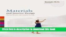 Download Book Materials and Interior Design (Portfolio Skills: Interior Design) ebook textbooks