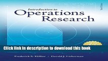 Read Introduction to Operations Research with Access Card for Premium Content  Ebook Free