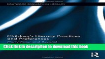 Read Children s Literacy Practices and Preferences: Harry Potter and Beyond (Routledge Research in