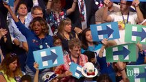 Hillary Clinton announced as Democratic nominee for president