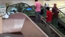 Guy Catches Boy That Falls 15 Feet Off An Escalator.mp4