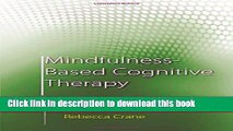 Read Mindfulness-Based Cognitive Therapy: Distinctive Features  Ebook Free