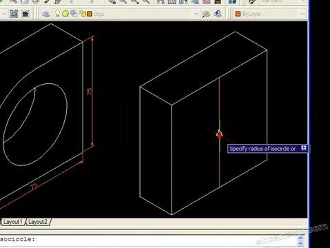 AutoCAD ile izometrik perspektif resim çizme ve ölçülendirme-2