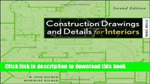 PDF Construction Drawings and Details for Interiors: Basic Skills, 2nd Edition [PDF] Online