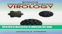 Read Fundamentals of Molecular Virology Ebook Free