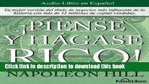 Ebook Piense y Hagase Rico / Think and Grow Rich (Spanish Edition) Full Online
